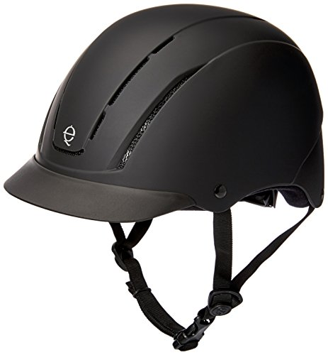 Troxel Spirit Performance Helmet, Black Duratec, Medium (Spirit Helmet Troxel Schooling)