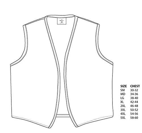 Rexzo Unisex Vest No Pocket No Buttons- Made in The USA - Purple, Medium