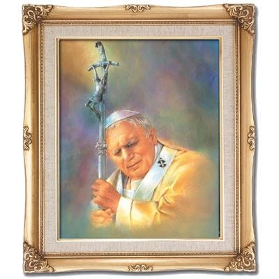Pope John Paul II Framed Art by Discount Catholic Store