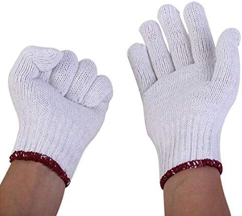 労働保護作業用手袋 手袋 コットン糸手袋 労働 保護手袋 溶接手袋 ノンスキッド (Size : M(9in), UnitCount : Four dozen)