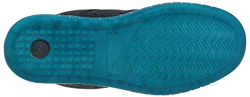 DC Mens Manteca Skate Shoe, Black/Black/Gum, 5 M US Black/Glacier Blue