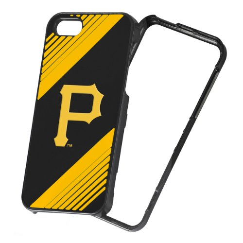 (Forever Collectibles MLB 2-Piece Snap-On iPhone 5/5S Polycarbonate Case - Retail Packaging - Pittsburgh Pirates)