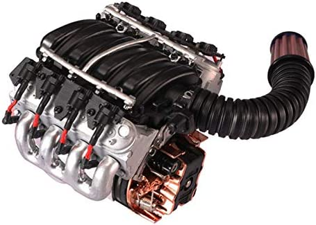 Fransande V8 - Ventilador de motor de simulación de 6,2 L para 1/10 escala Trx4 D90/110/130 Rc