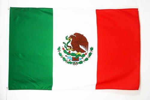 BANDERA de MÉXICO 150x90cm - BANDERA MEXICANA 90 x 150 cm - AZ FLAG