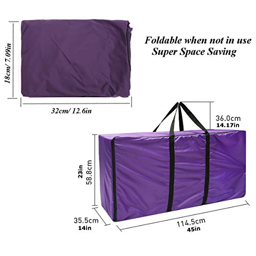 Essort Hay Bale Storage Bag, Extra Large Tote Hay Bale Carry Bag, Foldable Portable Horse and Livestock Hay Bale Bags with Zipper Waterproof, Purple 45'' x 14'' x 23'' by ESSORT (Image #7)
