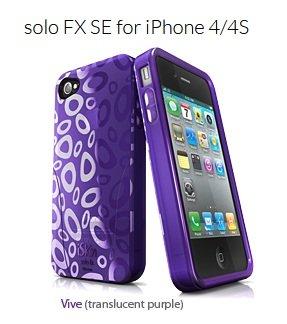 (Iskin UNSOLOSE4-PE2 Solofx Iphone 4s Purple)
