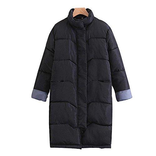 algodón abrigo señoras las Invierno de de rodillas tamaño grueso Black las sobre mujeres nuevo de chaqueta pan larga sección gran T8TfU0Sn