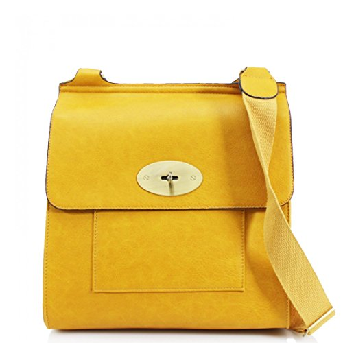 Craze Bag Bags Leather Ladies Adjustable Long Satchel Women London Handbag Body Shoulder New Cross Yellow Pu Strap Messenger Women's Bag r0qrF