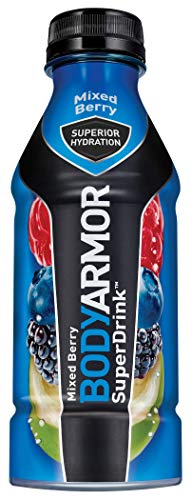 BODYARMOR Sports Drink Sports Beverage, Mixed Berry, 16 Fl Oz (Pack of 12), Natural Flavor With Vitamins, Potassium-Packed Electrolytes, No Preservatives, Perfect For Athletes (Best Cheap Mixed Drinks)