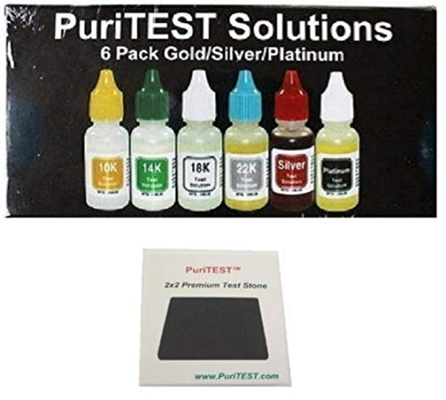 - Gold Test Acid Kit 10k 14k 18k 22k Silver Tester Detector Metal Jewelry Testing