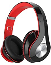 Bluetooth Headphones Over Ear, Mpow 059 Hi-Fi Deep Bass Wireless&Wired Headsets, Soft Memory Protein Earmuffs, Foldable Headphones with CVC6.0 Mic for Home Office Online Class Travel Cellphone PC TV