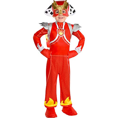 Party City Marshall Halloween Costume for Boys, PAW Patrol Mighty Pups, Small, Includes Accessories
