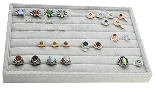 ADTL Jewelry Tray Velvet Gray Jewelry Tray Inserts Ring Cufflink Earring Storage Jewelry Box Jewelry Storage Organizer