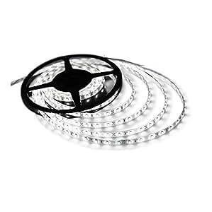 "Triangle Bulbs Cool White LED Waterproof Flexible Strip Light, T93007-1 (1 pack) - 25 watt, 300 ""3528 SMD"", 12 volt, 16.4 feet, Pure White - 1 PACK"