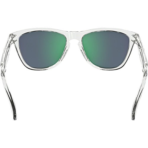 Oakley Adult Frogskins Asian Fit Sunglasses, Crystal Clear/Jade Iridium, One Size