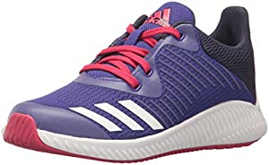 adidas Performance Girls' Fortarun K,ENERGY INK/WHITE/NOBLE INK,4.5 Medium US Little Kid