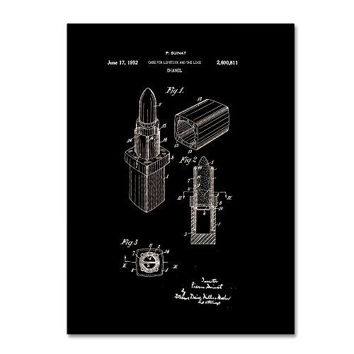 Chanel Lipstick Case Patent Black by Claire Doherty, 14x19-Inch Canvas Wall Art