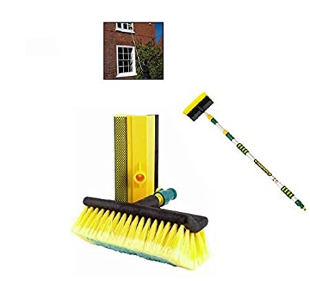 Heavy Duty Tri-Section Extending Wash Brush 3 Metre Include Squeegee