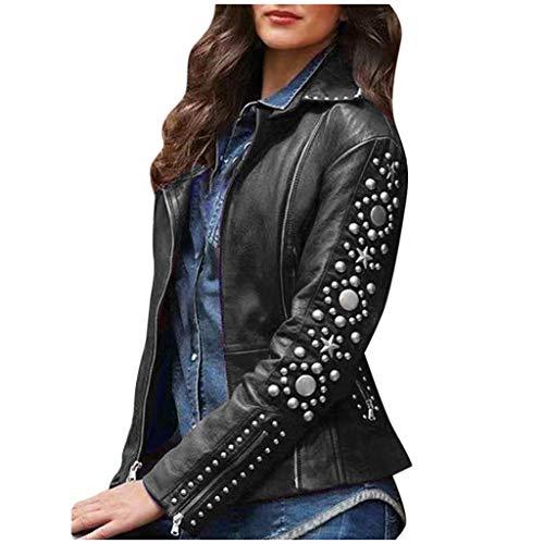 DRAGONHOO Womens Loose Gothic Punk Long Sleeve Hooded Solid Black Cardigan Jacket Coat