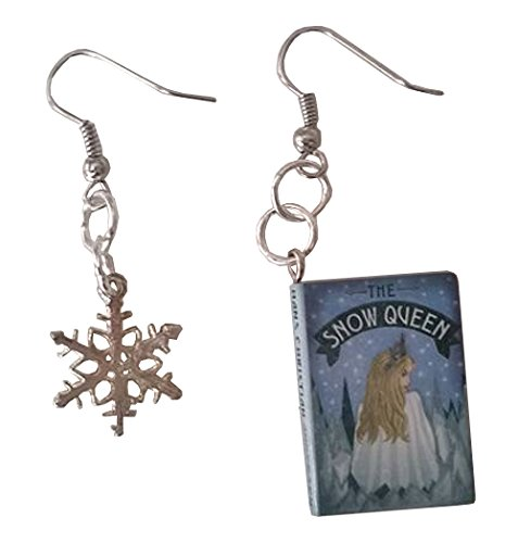 [Snow Queen Story Book Dangle Earrings] (Elsa Once Upon A Time Costume)