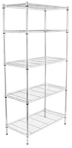 - Internet's Best 5-Tier Wire Shelving | Chrome | Heavy Duty Shelf | Wide Adjustable Rack Unit | Kitchen Storage