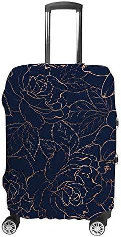 スーツケースカバー トラベルケース 荷物カバー 弾性素材 傷を防ぐ ほこりや汚れを防ぐ 個性 出張 男性と女性ゴールデンローズの概要