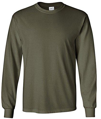 Joe's USA tm Men's Long Sleeve Cotton Crewneck T-Shirt Military (Joe Army T-shirt)