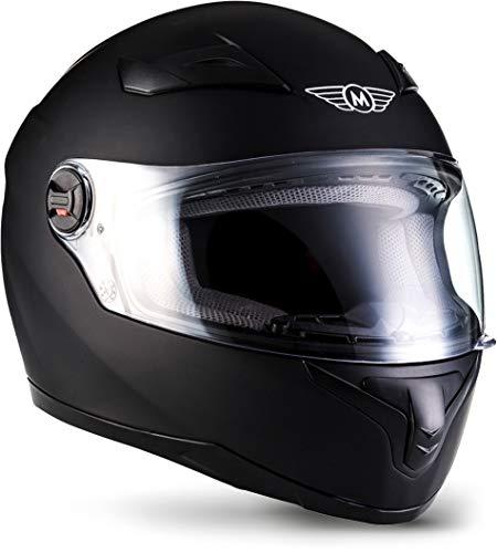"""Moto Helmets® X86 """"Matt Black"""" · Integral-Helm · Full-Face Motorrad-Helm Roller-Helm Cruiser · ECE Visier…"""