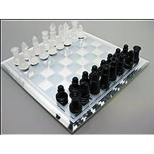 Glass chess set S_ White Black (japan import)