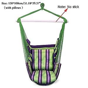 Amache Outdoor Hammocks Outdoor Adulti Esterna Giardino Amaca for Bambini Sdraio Altalena Amaca con 2 Cuscini Swing Chair 2 spesavip