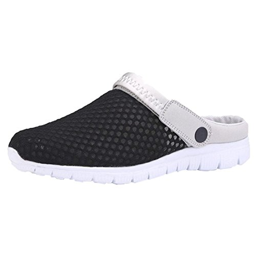 SODIAL(R) 1 Pair Breathable Mesh Net Slippers Beach Hollow Out Sandals Outdoor Sports Casual Summer Shoes, Women Blue UK3 Black