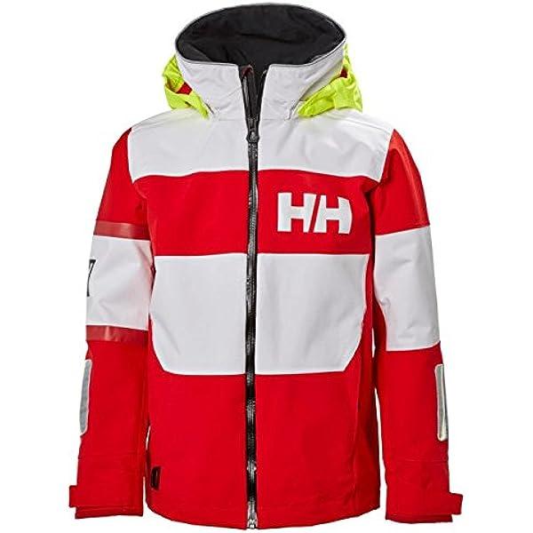 Cherry Tomato 10 Helly Hansen Kids /& Baby Jr Block It Waterproof Rain Jacket with Hood