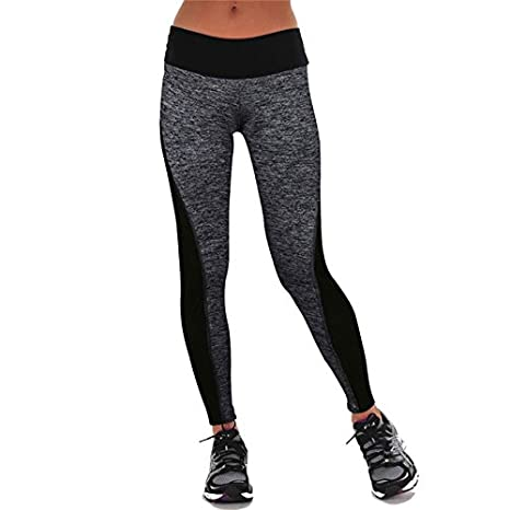 42054703c30498 Generic Women Fitness Pants Running Tights Yoga Sports Leggings-black-S