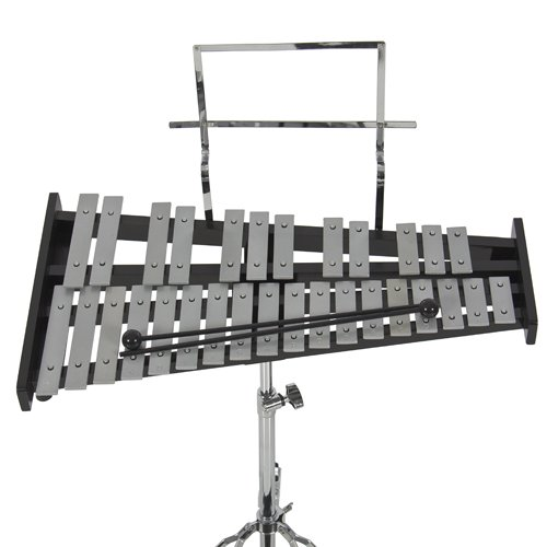 Percussion 30 Notes Glockenspiel Bell Kit w/ Practice Pad +Mallets+sticks+stand by Best Choice Products