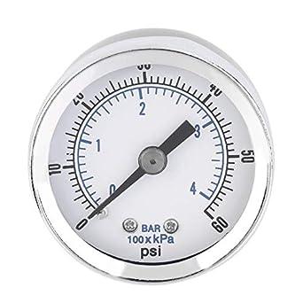 de alta calidad de 1/8 NPT compresor de aire Indicador de presión
