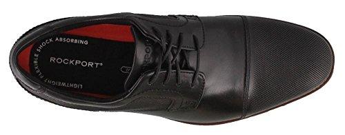 Blucher Oxford Black Rockport Style Cap Purpose Men's qR471B