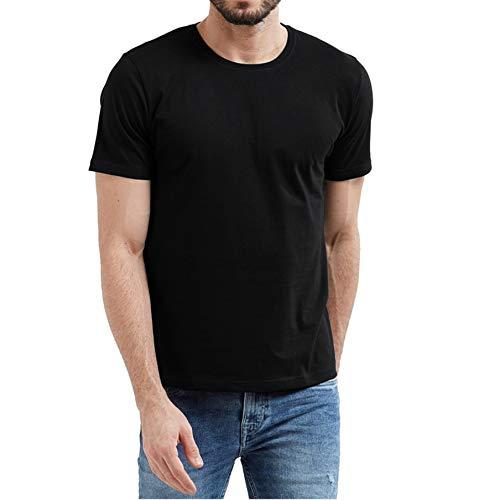 (Athletic Workout Shirts for Men - Adult Men Black Thermal Shirt (L))