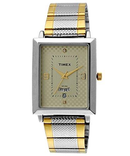Timex-Mens-Classics-Analog-Beige-Dial-Watch