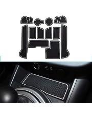 Muchkey Pacco da 12 Custom Fit Cup, Door e Center Console Liner Accessori Per 2011-2016 Sportage, Anti-Dust Antiscivolo Tappetino per Interni Bianca