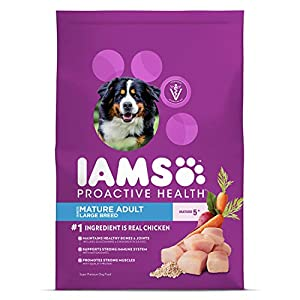 IAMS PROACTIVE HEALTH Mature Adult Large Breed Dry Dog Food with Chicken, 15 lb. Bag