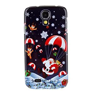 LHY Christmas Eve Santa Claus Landing Merry Christmas Pattern Protective Hard Back Case Cover for Samsung Galaxy S4 I9500
