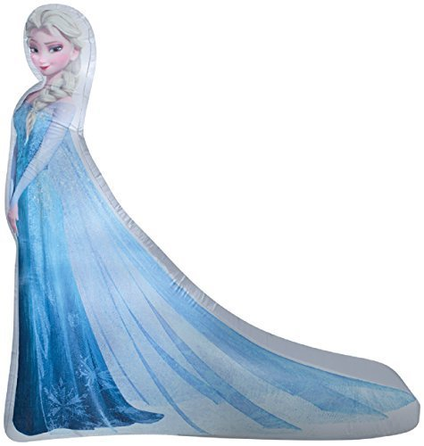 (Gemmy Airblown Inflatable Photorealistic Princess Elsa From Disney Frozen Movie - Holiday Yard Decorations, 5-foot Tall )