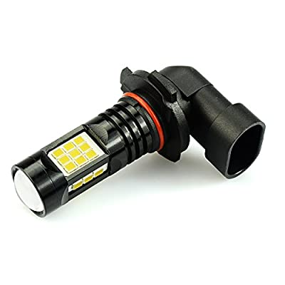JDM ASTAR 2400 Lumens Extremely Bright PX Chips H11 H8 LED Fog Light Bulbs for DRL or Fog Lights, Gold Yellow