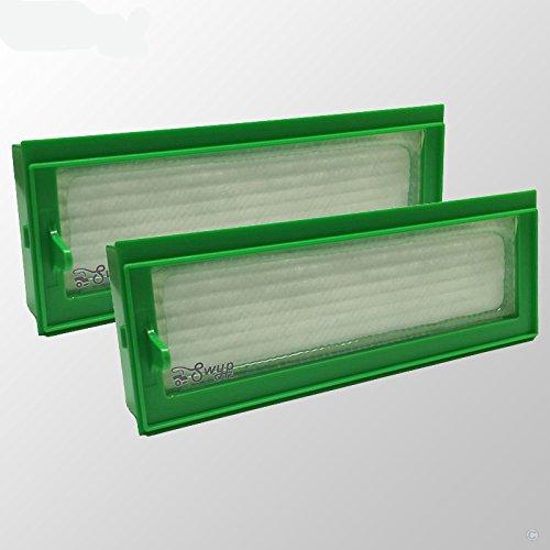 2 pieza filtro HEPA Allergie Filtros de repuesto para aspiradoras ...