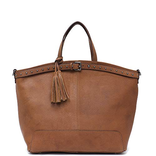 (Women Top Handle Bags STEPHIECATH Brand Luxury Style Cow Leather Female Tote Handbag (CAMEL))