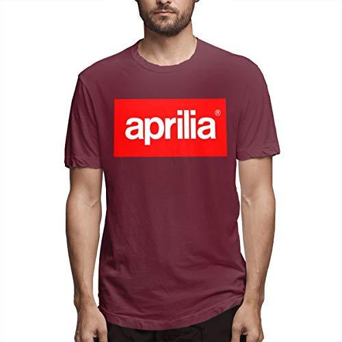 (BAIXRU Fashion Aprilia Logo T Shirt for Male Burgundy 36)