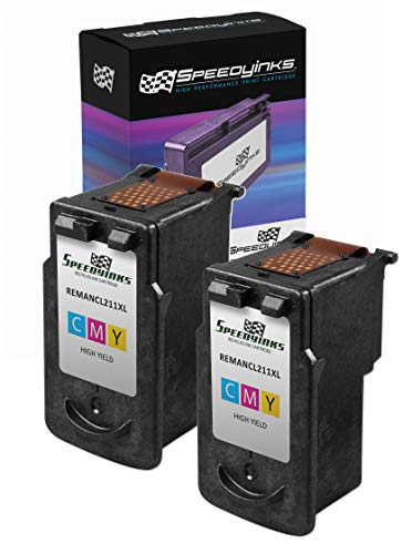 Speedy Inks - 2PK Canon CL-211XL High Yield Color Remanufactured Inkjet Cartridge - Canon Remanufactured Inkjet Cartridge