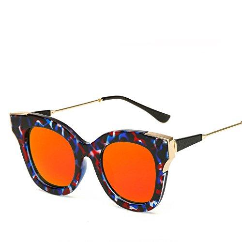 Chahua La tendance en Europe et dAmérique, Mme lunettes de soleil Lunettes de soleil mode lunettes de soleil réfléchissantes personnalisé
