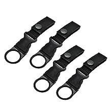MonkeyJack 4 Pieces / Set Carabiner Nylon Webbing Buckle Belt Strap Hanging Hook for Hiking Travel