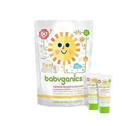 BabyGanics Cover Up Baby Sunscreen Moisturizing Lotion Single Uses - SPF 50 - .25 oz -12 Pk Bag